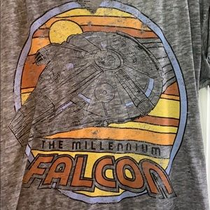 Star Wars Distressed Millennium Falcon tee